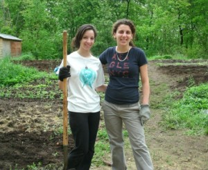 Agape Summ Interns work in Organic Gardens
