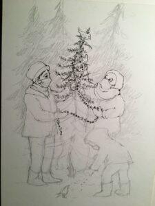 Agape Community Servant Song Winter 2021. Artwork by D Roberts Kirk